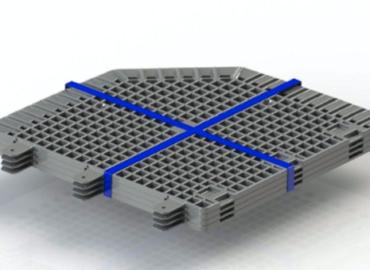 Paquete de las 4 piezas de la base antiroedores para compostadores