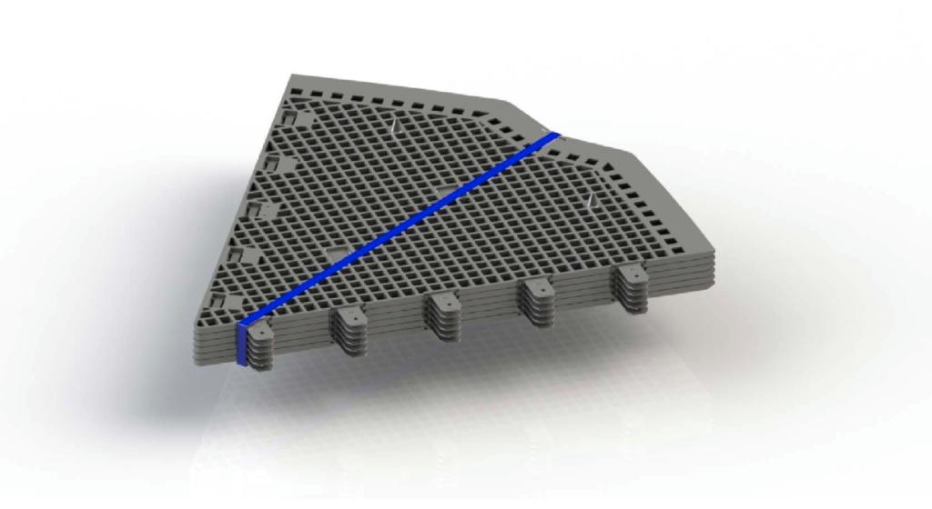 Paquete de seis piezas para la base antiroedores para evitar ratas y ratones en los compostadores