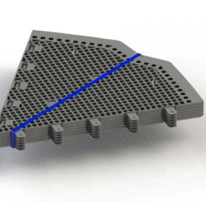 Paquete de piezas para la base hexagonal antiroedores para compostadores