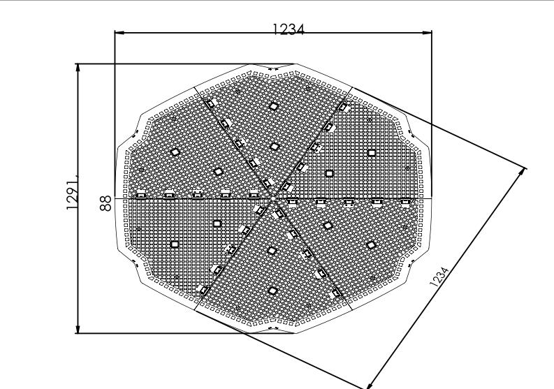 Planta hexagonal de la base antiroedores para evitar ratas y ratones en los compostadores