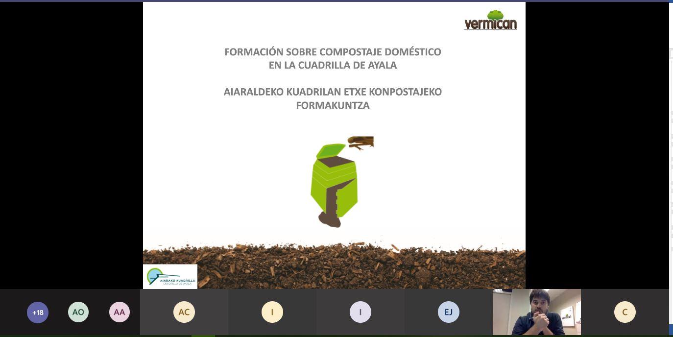 Dispositiva de la formación para usuarios de compostaje