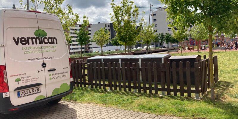Insalación Vitoria Gasteiz, compostaje comunitario de Vermican